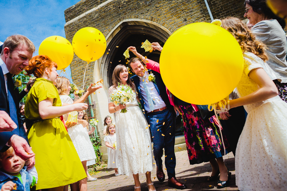 Weddings With Yellow Balloons