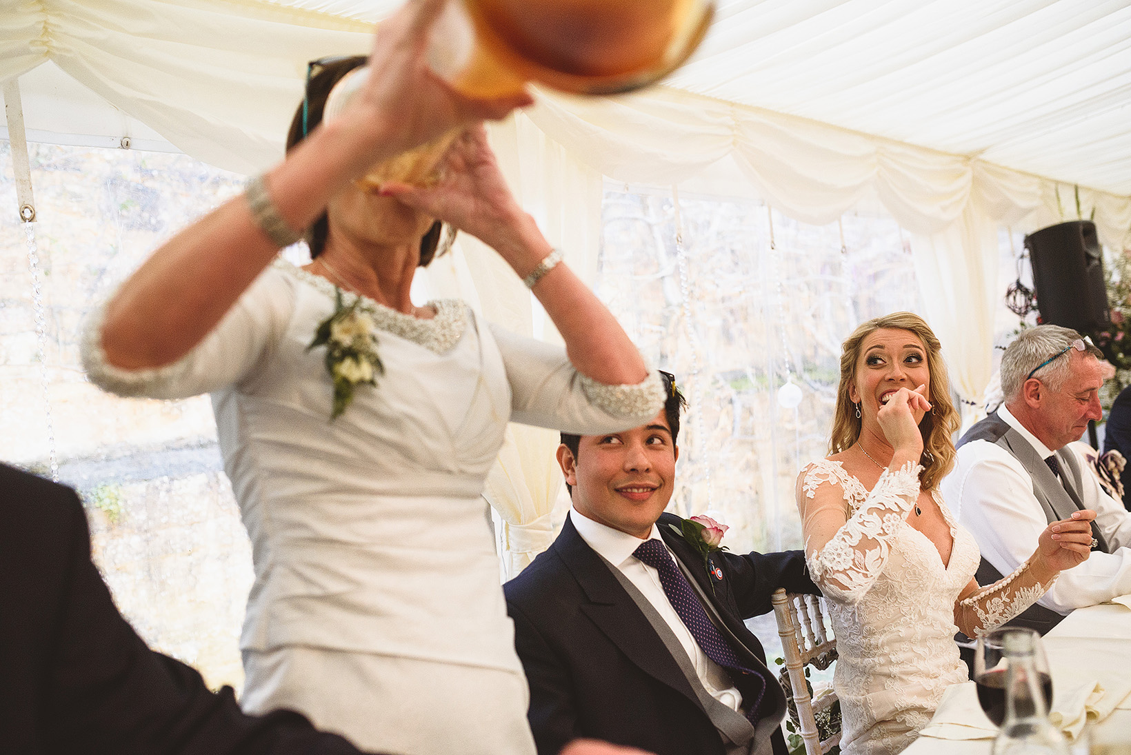 Yard of ale wedding