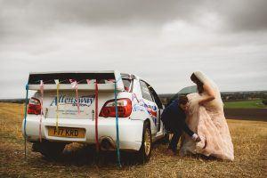 Rally Car Wedding