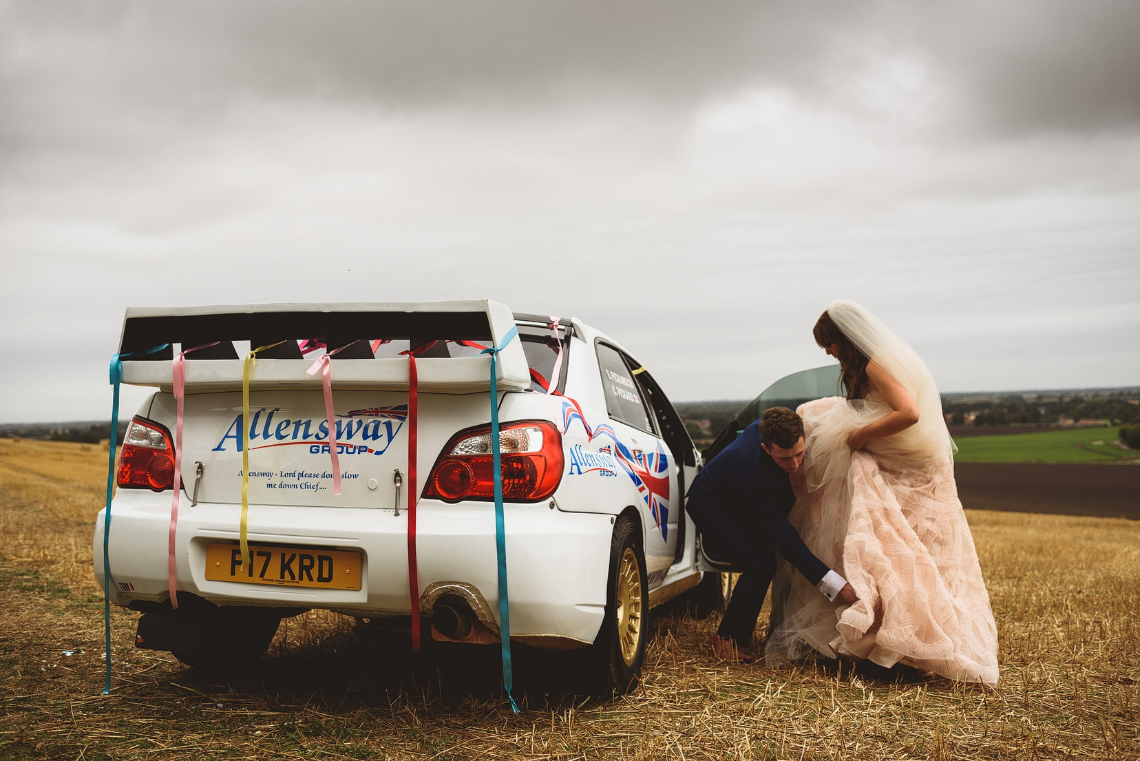 Rally Car Wedding
