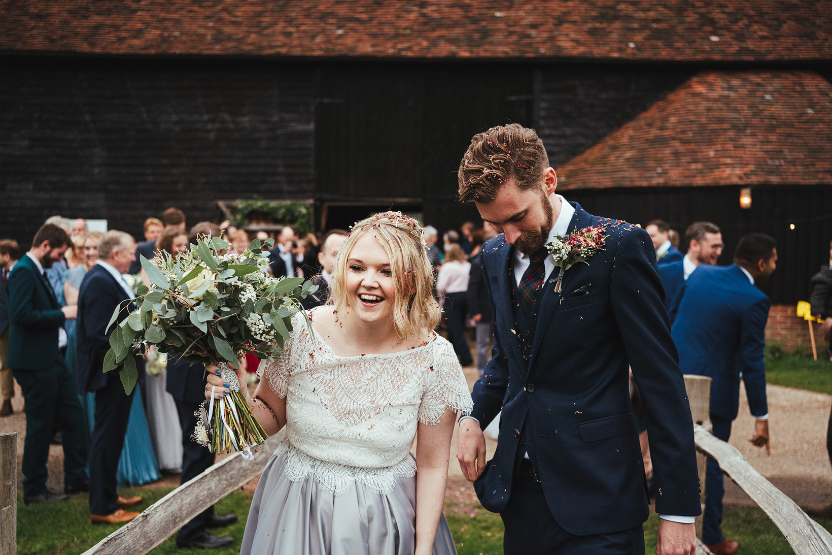 The Great Barn At Rolvenden Wedding Photography